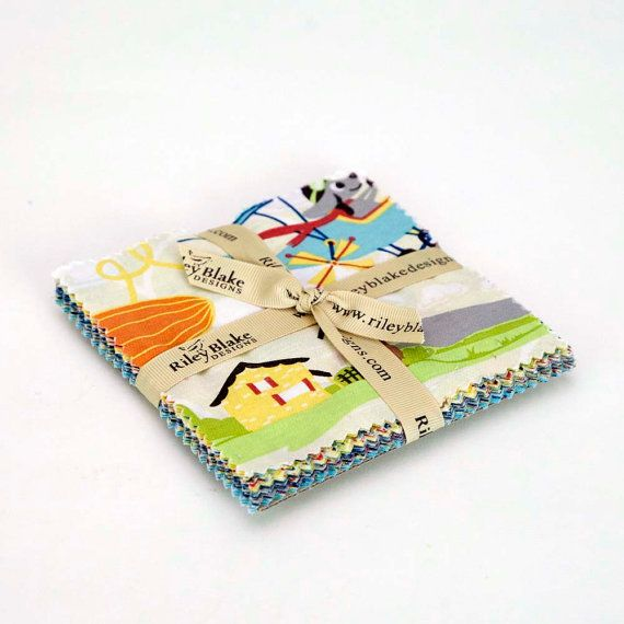 LITTLE FLYERS Charm Pack - Airplane Fabric - 5-Inch Stacker - Riley Blake - 5-Inch Squares - Baby Boy Fabric - Juvenile Novelty Fabric
