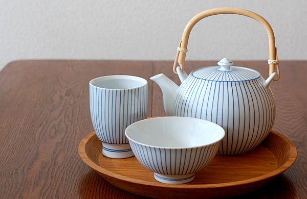 波佐見焼 千筋 茶碗 : モンセン