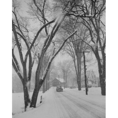 USA Lyndonville Vermont snow storm Canvas Art - (24 x 36)