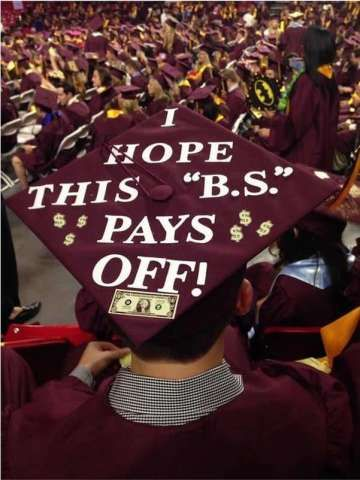 Decorated graduation caps are a tradition at pretty much any graduation ceremony you'll go to, so as you're prepping for your ceremony, get some inspiration from these hilarious caps!