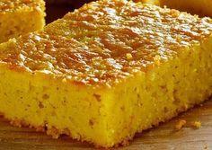 Pan de elote con queso crema