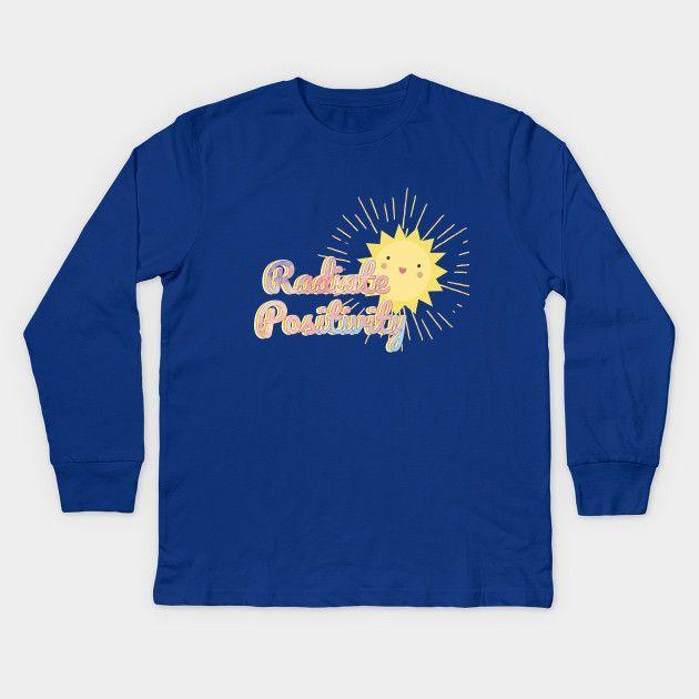 Radiate Positivity Kawaii Sun Kids T Shirt.  Dress your children, grandchildren,…