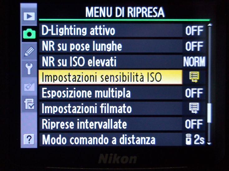 ISO : come gestirli utilizzando l' opzione impostazione iso della reflex