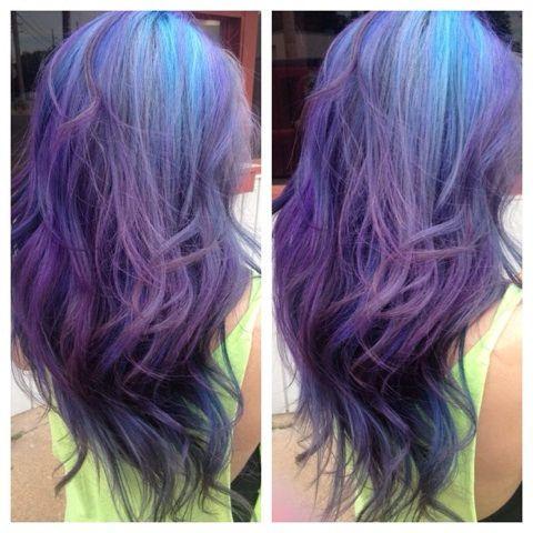 Jennie's pastel blues and purples
