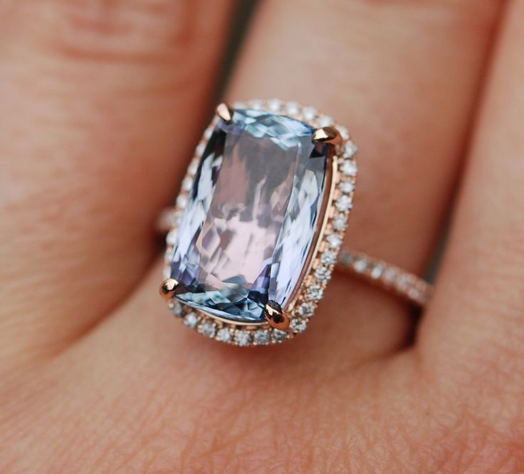 Champagne Tanzanite Tanzanite: On Hold Deposit -Tanzanite Ring. Rose Gold Engagement Ring