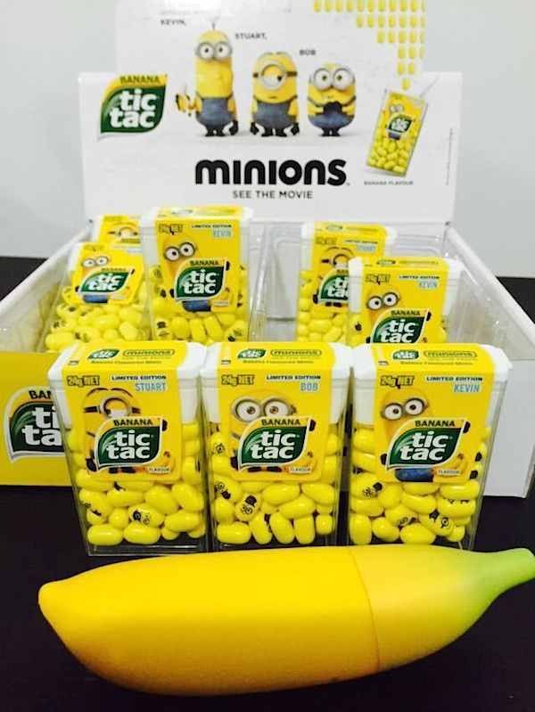 Cute, Banana-Flavored, Yellow Tic Tacs That Look Just Like The 'Minions' - DesignTAXI.com