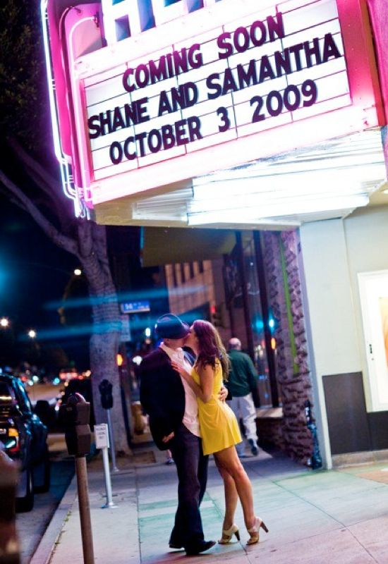 In a Thousand Words: 8 Epic Engagement Shots- Theater Lovers Engagement on earlyivy.com