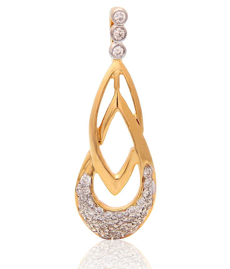 ‪#‎Amazing‬ ‪#‎Gold‬ And ‪#‎Diamond‬ Pendants !! Exquisitely designed, the Sparkles diamond Pendants is sure to garner attention. G.Wt 1.360 With round shaped Diamonds VS-SI HI INR 11052 Only Shop now ‪#‎Carati‬ ‪#‎Jewels‬