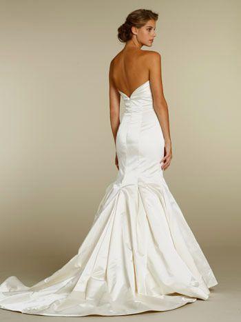 51 best wedding dresses images on pinterest wedding for Satin trumpet wedding dress