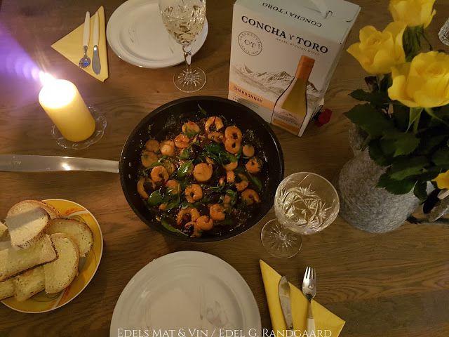 Edels Mat & Vin: Kamskjell & Reker med asiatiske smaker ♥ Concha y ...