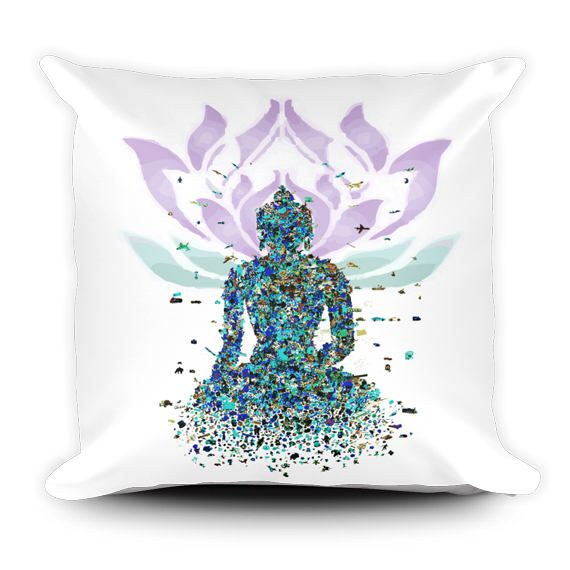 A personal favorite from my Etsy shop https://www.etsy.com/ca/listing/510875638/buddha-pillow-meditation-decor-lotus