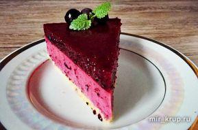 Ягодно-йогуртовый десерт на нутовой основе