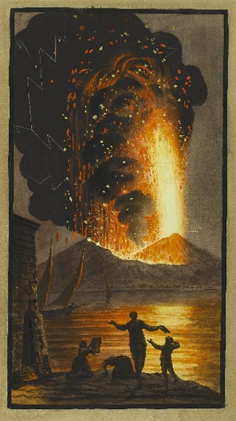 "Pietro Fabris, for William Hamilton's ""Campi Phlegraei: Observations on the Volcanoes of the Two Sicilies..."" 1779  Image via Sotheby's"