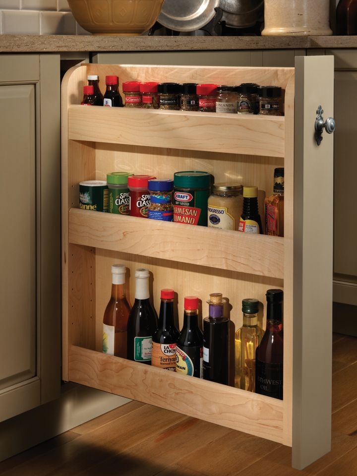 pull out spice cupboard | Pull Out Spice Cabinet | Wood-Mode | Fine Custom Cabinetry