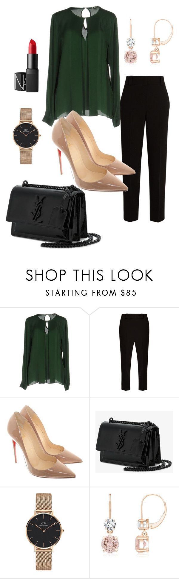 """""""Untitled #788"""" by stylemirror ❤ liked on Polyvore featuring MICHAEL Michael Kors, The Row, Christian Louboutin, Yves Saint Laurent, Daniel Wellington and NARS Cosmetics"""