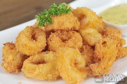 Receita de Lula empanada em receitas de crustaceos, veja essa e outras receitas aqui!