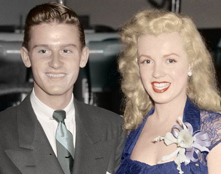 Marilyn Monroe , Marilyn with Roddy McDowall late 1940's by BJPhotoPrints on Etsy