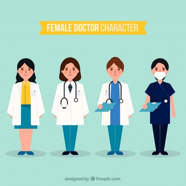 Collection of serious female doctor characters Free Vector  #Design #Medical #Character #Cartoon #Doctor #Health #Science #Smile #Hospital #Flat #Medicine #Tools #White #Flatdesign #Pharmacy #Cartooncharacter #Laboratory #Lab #Care #Healthcare
