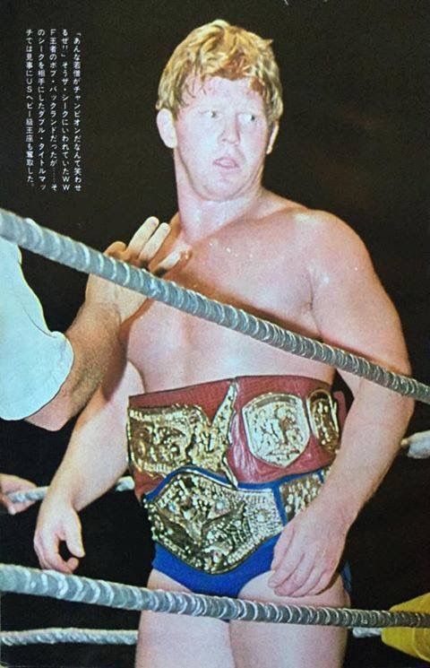 Backlund sporting the wwwf and Detroit USA  Belts