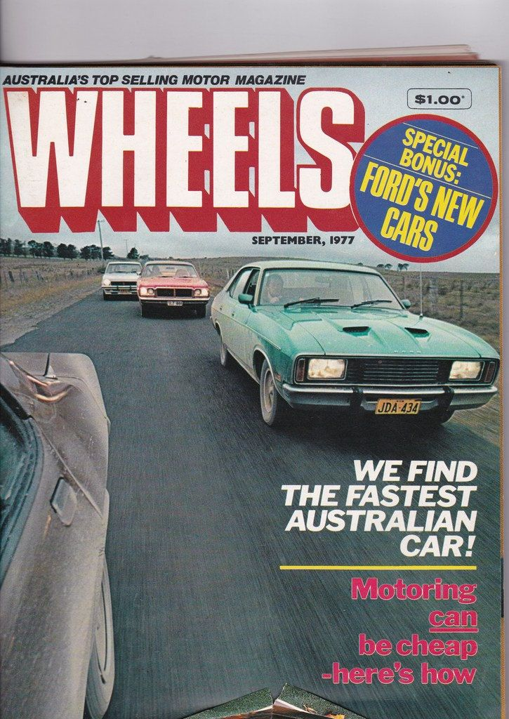 40th Birthday Gift Idea September 1977 Vintage Australian Wheels Magazine Gift for Him by SuesUpcyclednVintage on Etsy