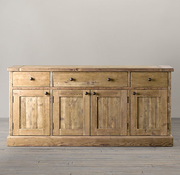 Salvaged Wood Sideboard Kitchen Cabinets With Old Barn Wood Dining
