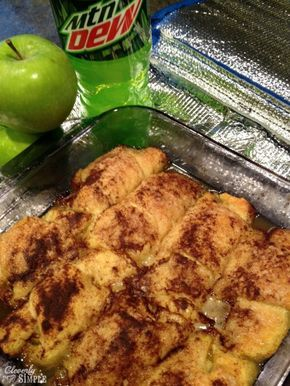 Easy Apple dumplings with Mountain Dew - apparently delicious despite the odd ingredient