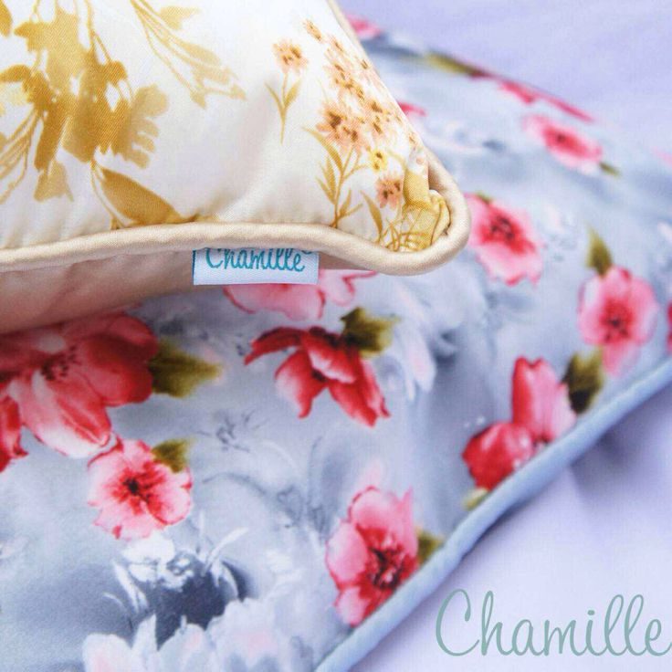 Accent pillow - flowery cushion , fresh and natural