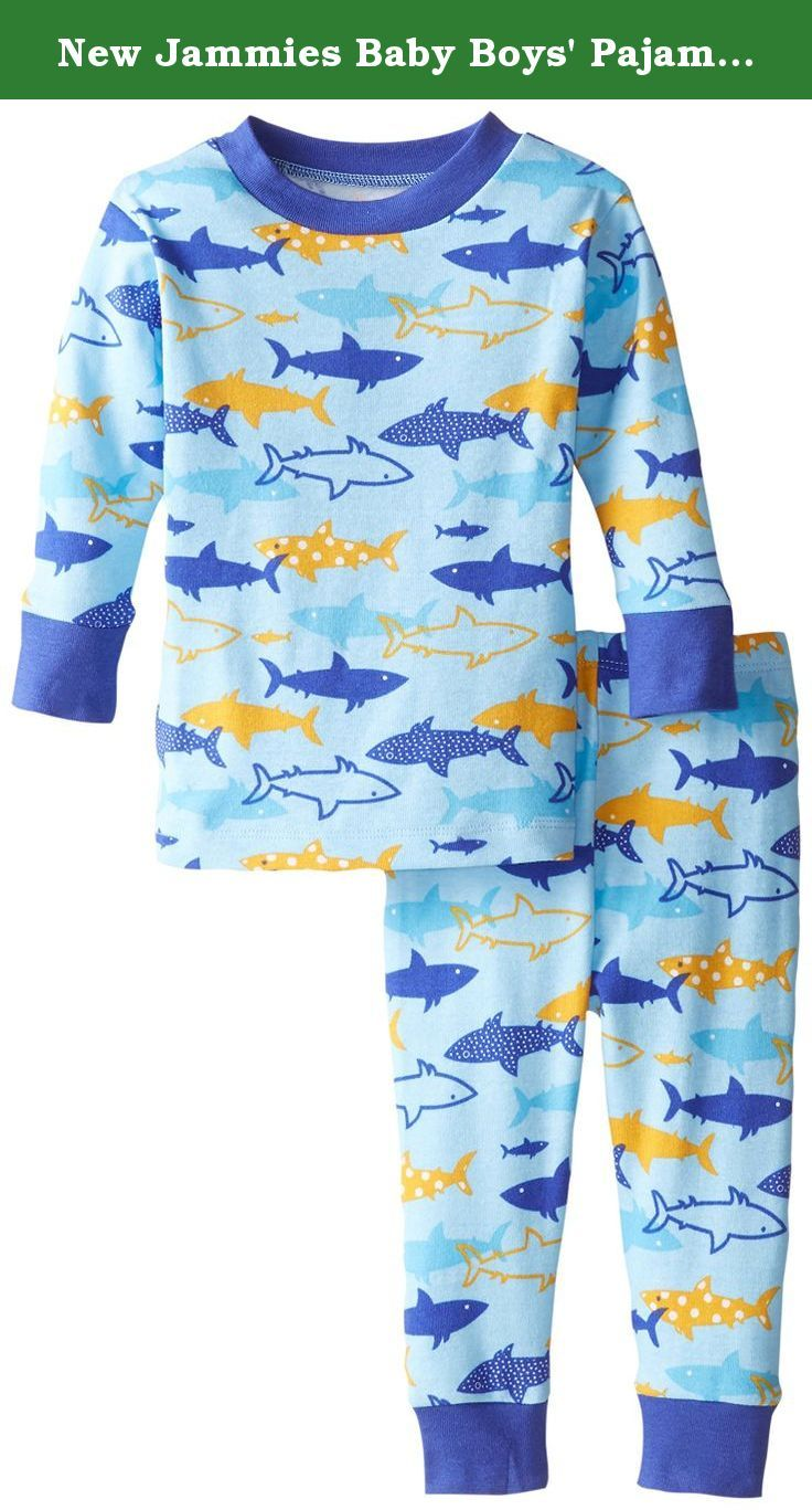 New Jammies Baby Boys' Pajama Set Sharks, Blue, 12 Months. This marine life inspired pajama set makes every night cozy and comfy.