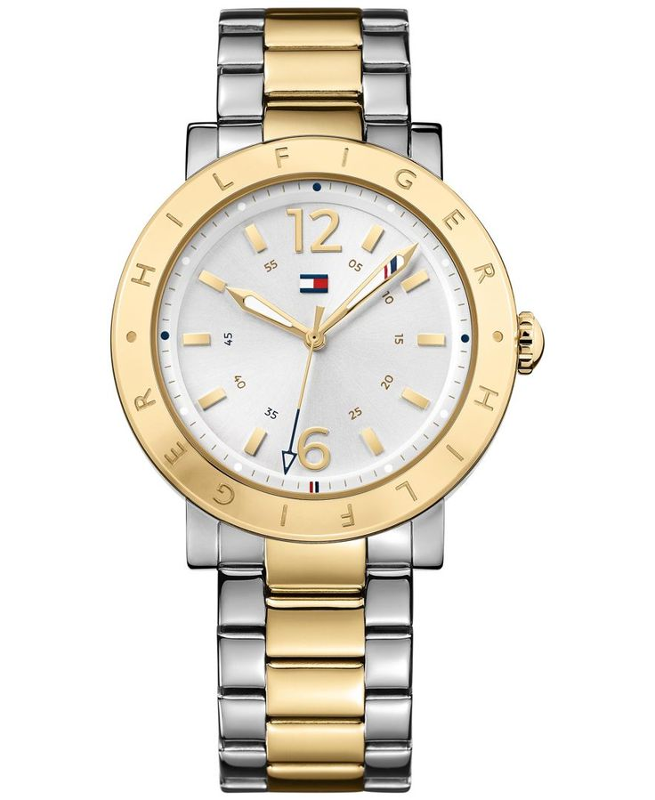 Tommy Hilfiger Men's Table Two-Tone Stainless Steel Bracelet Watch 44mm 1781620
