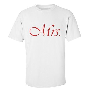 Mrs. Couple Tee | Mr. and Mrs. Couple Shirts