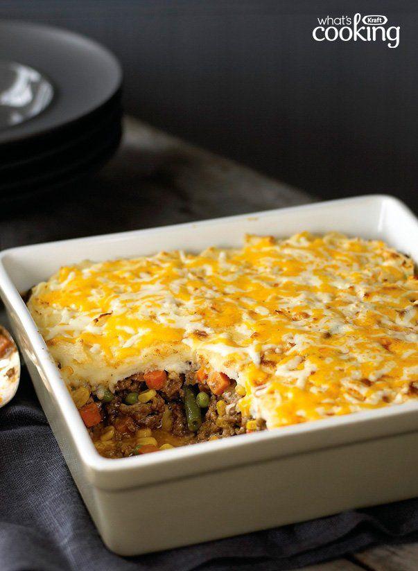 Easy Shepherd S Pie Kraft What S Cooking Recipe Sheppards Pie Recipe Shepherds Pie Recipe Easy Recipes