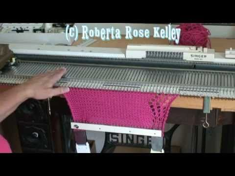 Knitted in Lace Edge on a knitting machine