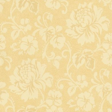 Juliette Gold (980745) - Sophie Conran Wallpapers - A delicate spot effect wallpaper with a distressed paint washed cloud effect background, overlaid with a pretty floral trail. Co-ordinates with the Odette design. Shown in the caramel gold and cream. Please ask for a sample for true colour match.