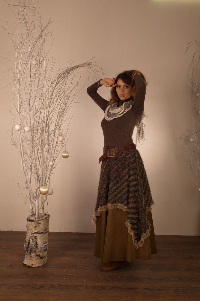 Юбка, бохо юбка, бохо стиль, бохо, юбка длинная, юбка в пол, юбка макси, юбка зима, юбка осень, юбка теплая