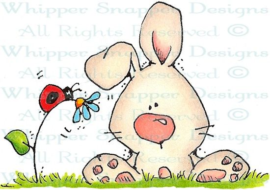Hunny Bunny - Rabbits - Animals - Rubber Stamps - Shop