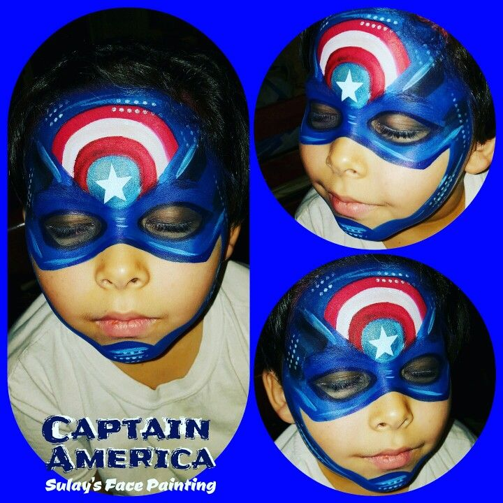 Captain america face painting
