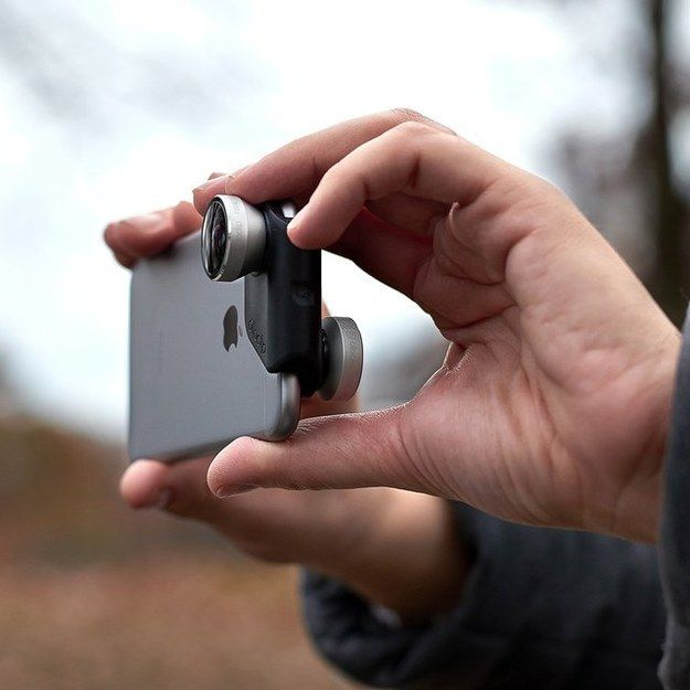 This Olloclip 4-in-1 lens system ($80) for your front and back camera.   21 Genius iPhone Gadgets You Never Knew You Needed