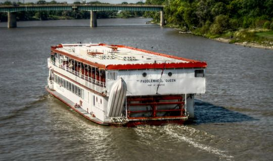 The Paddlewheel Queen on The Red River in Winnipeg, Manitoba