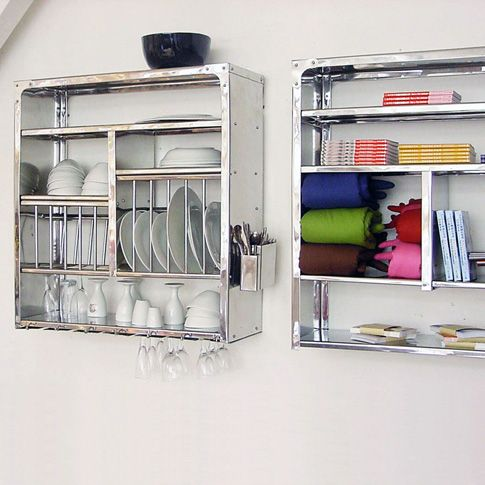 Stainless steel wall dish racks - Dish drying rack for small spaces minimalist ...