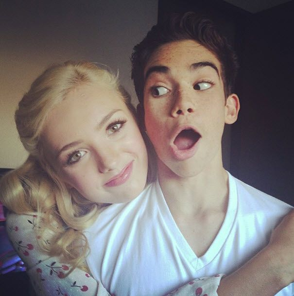 Peyton List With Cameron Boyce August 4, 2013