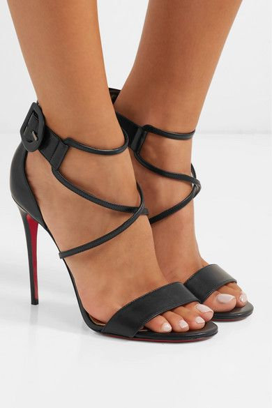 ff6694889d6b Christian Louboutin - Choca 100 leather sandals in 2019