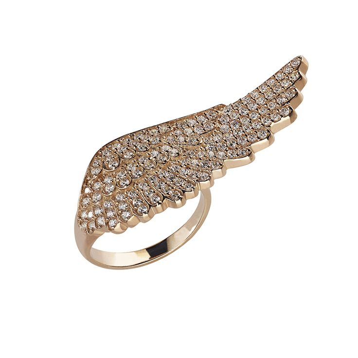 Oxette Rose Gold Silver 925 Angel Wing Ring with zircons - Available here http://www.oxette.gr/kosmimata/daktulidia/ster.silv.rosegold-pl.ring-feather-wh-cz-oxette-623l-1/   #oxette #ring #jewellery #wing
