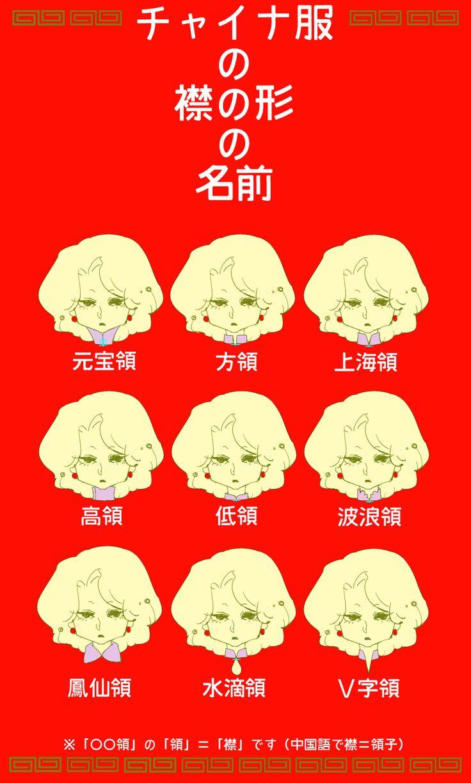 チャイナ服の襟の形とその名前