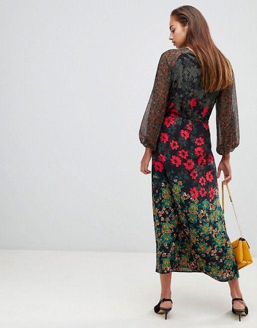 87a1656c7f Sisley floral maxi dress