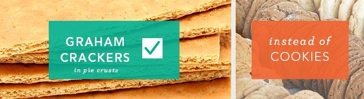 Utilice las galletas graham en la corteza de pastel en lugar de galletas