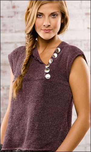 Gone for the Weekend Tee by Susan Jalowiec, knit in Berroco Captiva, Creative Knitting Fall 2013