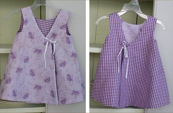 Tutorial: reversible, buttonless wrap dress for little girl