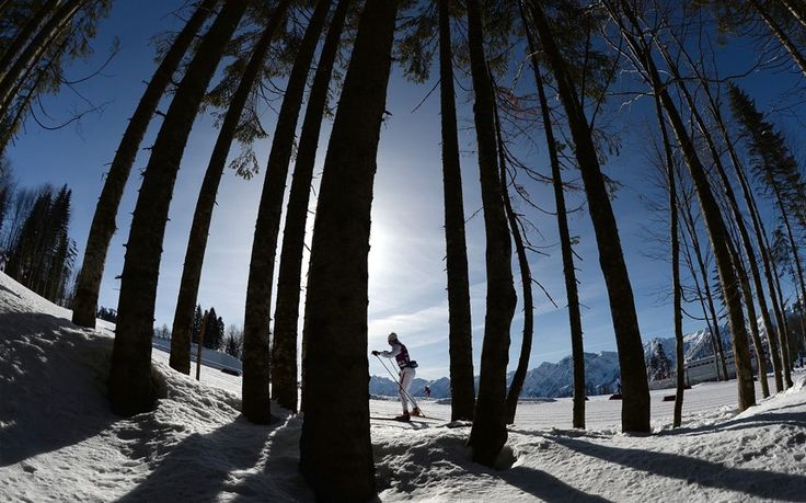 Sochi 2014 Winter Olympics Kari Peters of Luxembourg trains at the Laura Cross-Country Ski and Biathlon Centre