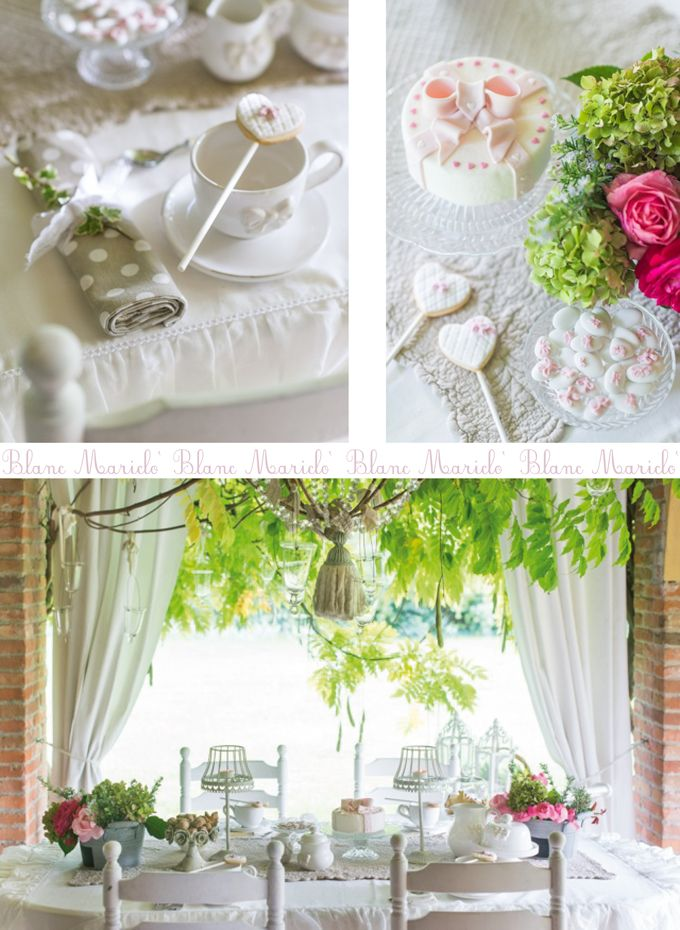 blanc mariclo romantic tea time in the garden