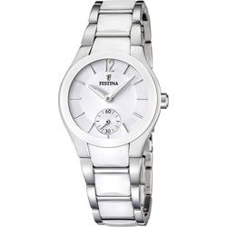 Montre Femme Festina Ceramic F16588/1 Bracelet en céramique blanche et acier